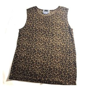 Leopard Print Sleeveless Body Forming Tank Top G4
